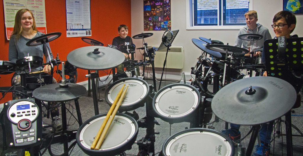 MusicStation group drum lesson
